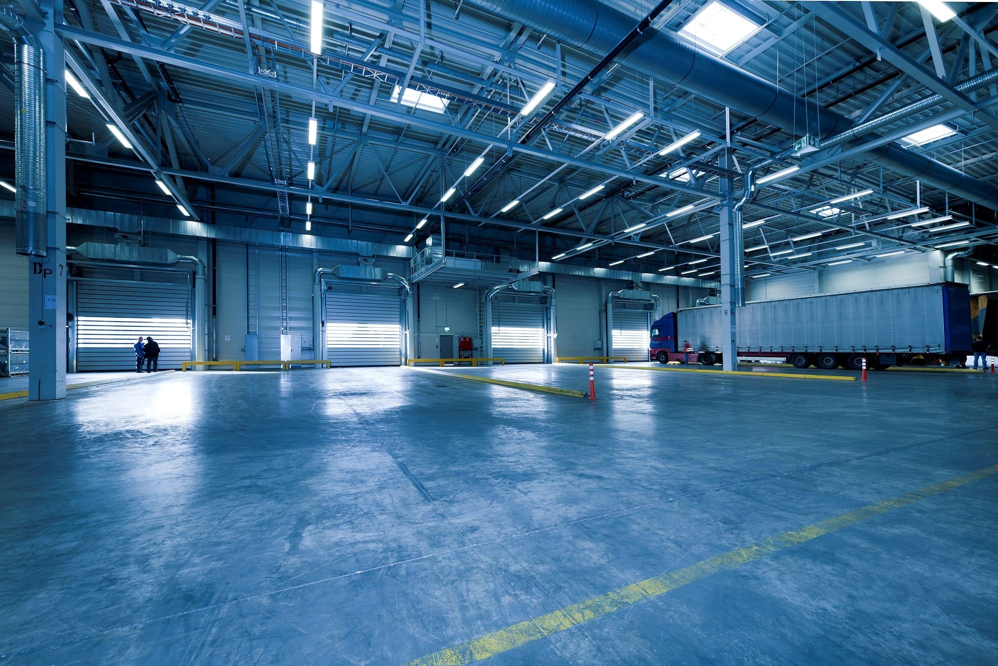 A health product warehouse is the perfect environment to use a manual forklift stacker.